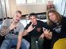 Z Joakimem Brodénem i Danielem Mullbackiem - Wokalistą i perkusistą zespołu SABATON