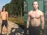 Po lewej Przed, rok pozniej po prawej